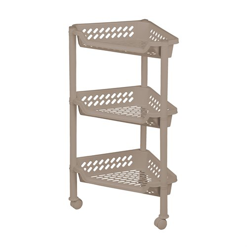 Triangular trolley w/3 baskets