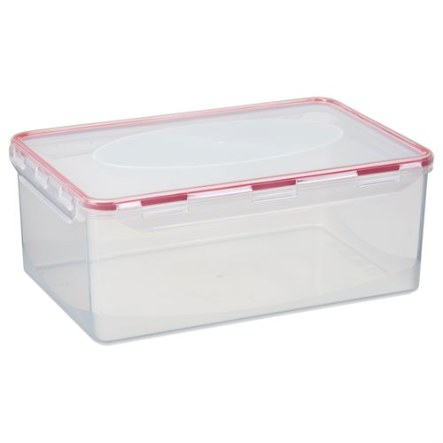 Air tight box 5 l. Klar, Gummi: Scharlachrot
