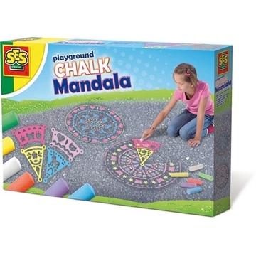 Playground chalk mandala
