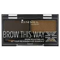 Rimmel Brow This Way Eyebrow Sculpting Kit Lidschatten Braun