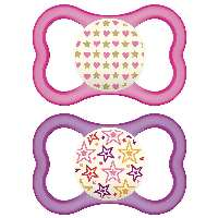 MAM Air Night 6+ Night baby pacifier Ortodontisk Silikone Pink